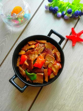 腊肉炒竹笋