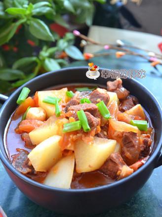 西红柿牛肉炖萝卜